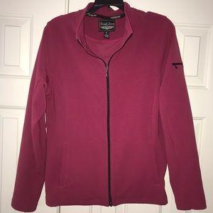EUC Straight Down Front Zip Jacket Size M.